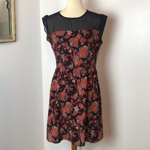 Maison Jules Navy Print Dress Medium